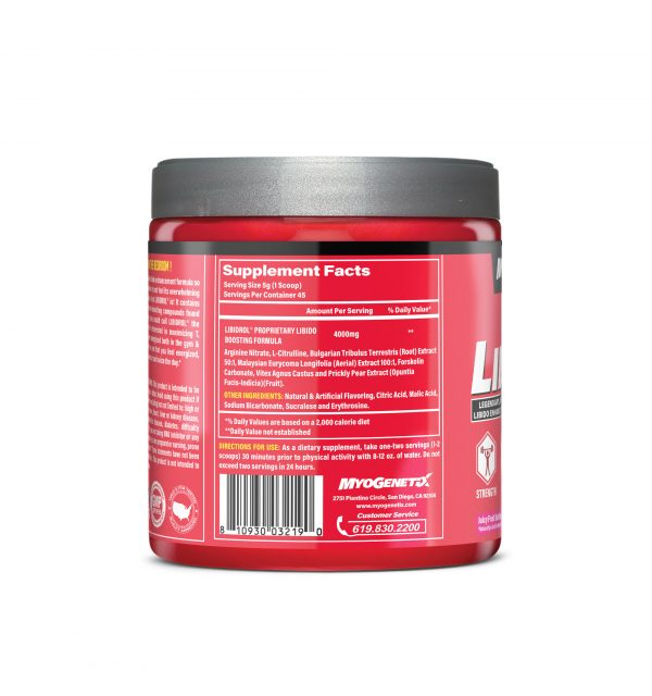 MYOGENETIX® LIBIDROL® 7.9 Oz. (45 Servings) Juicy Fruit Bubblegum Flavour