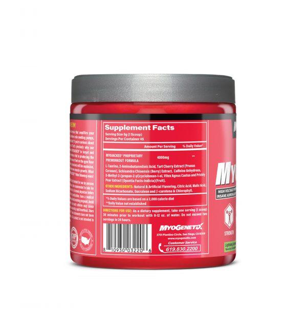MYOGENETIX® MYOJACKED® HSP90 7.9 Oz. (45 Servings) Lightning Lemonade Flavour