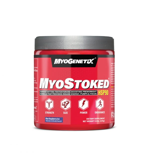 MYOGENETIX® MYOSTOKED® HSP90 7.9 Oz. (45 Servings) Blue Raspberry Ice Flavour